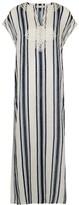 Tory Burch Striped Linen Maxi Dress