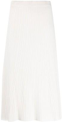 D-Exterior A-line midi skirt
