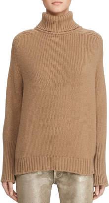 Ralph Lauren Oversized Wool-Cashmere Turtleneck Sweater