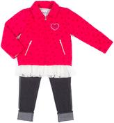 Little Lass Raspberry Heart Jacket Set - Infant, Toddler & Girls