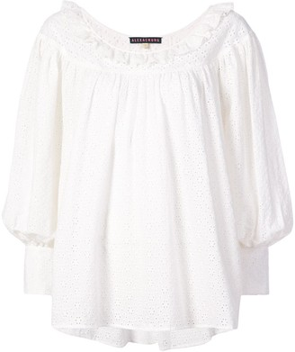ALEXACHUNG Alexa Chung embroidered long-sleeve blouse