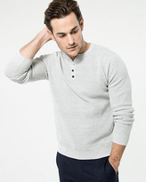 Le Château Two-Tone Cotton Henley Sweater