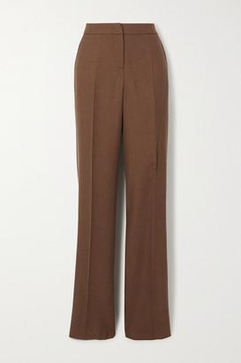 Max Mara Bea Camel Hair And Silk-blend Straight-leg Pants - Brown
