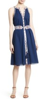 Tory Burch Women's Savannah Embroidered A-Line Dress
