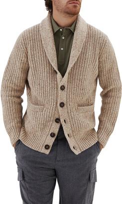 Brunello Cucinelli Men's Shawl-Collar Melange Cardigan Sweater