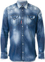 DSQUARED2 bleached denim shirt