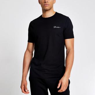 River Island Prolific black slim fit short sleeve T-shirt