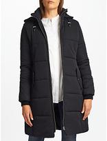 John Lewis Long Padded Puffer Jacket, Black