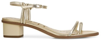 Sam Edelman Isle Metallic Leather Toe-Loop Sandals