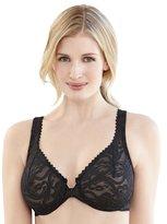 Glamorise Women's Plus Size Front Closing Stretch Lace Wonderwire