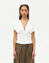 Rachel Comey Women's Peak Top in White, Size 0 | 100% Polyester