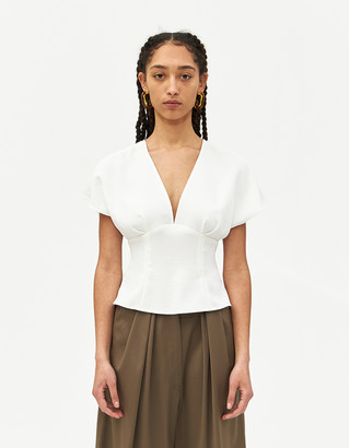 Rachel Comey Women's Peak Top in White, Size 2 | 100% Polyester