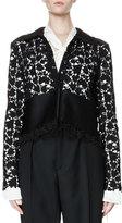 Lanvin Long-Sleeve Lace Jacket, Black