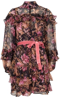 Zimmermann Lucky floral-print silk-chiffon mini dress