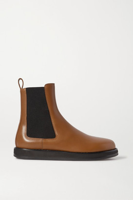 The Row Leather Chelsea Boots - Tan
