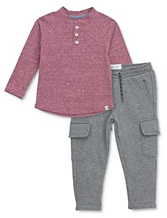 Sovereign Code Boys' Fender Henley Tee & Trench Cargo Jogger Pants - Baby