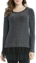 Karen Kane Metallic Chevron Sweater