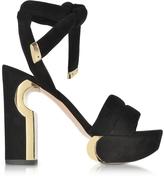 Nicholas Kirkwood Ziggy Black Suede Platform Sandal