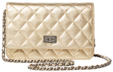 Chanel Vintage Gold Quilted Lambskin Reissue Wallet on a Chain (WOC)