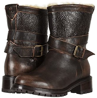 Ross & Snow Emilina SP Moto Boot (Bomber Brown) Women's Shoes