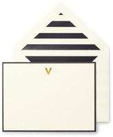 Kate Spade Monogram V Correspondence Cards - Set of 10