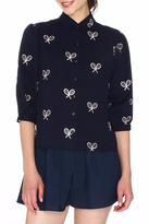 PepaLoves Embroidered Racket Blouse