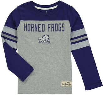 Outerstuff Preschool Purple TCU Horned Frogs Legacy Long-Sleeve Football T-Shirt