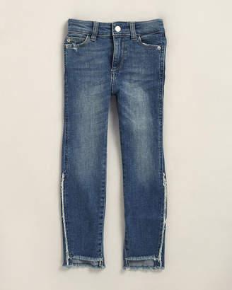 DL1961 Girls 4-6x) Chloe Skinny Distressed Hem Jeans
