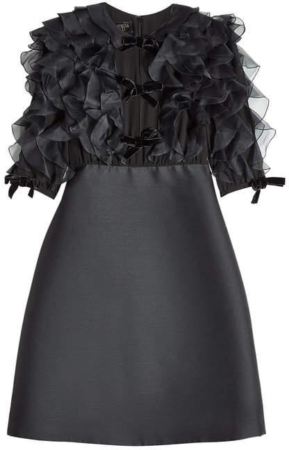 Giambattista Valli Wool Dress with Ruffles