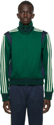 Wales Bonner Green and Navy adidas Originals Edition Lovers Track Jacket