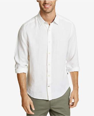 Nautica Men Classic-Fit Solid Linen Shirt