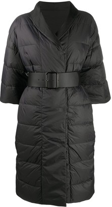 Peserico Belted 3/4 Sleeves Coat