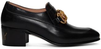 Gucci Black Ebal Loafer Heels