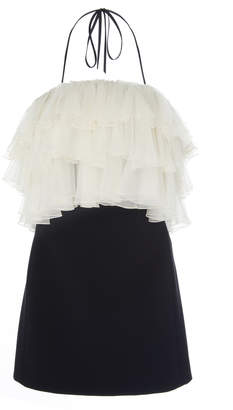 Alexis Dolci Tiered Paneled Cady Mini Dress