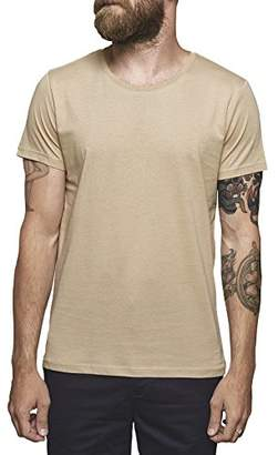 Suit Men's SU1201 Regular Fit Round Collar Short Sleeve T - Shirt - Beige - Large