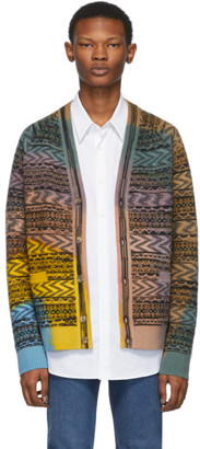 Missoni Multicolor Knit Tie-Dye Cardigan