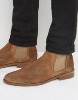 Walk London Suede Chelsea Boots