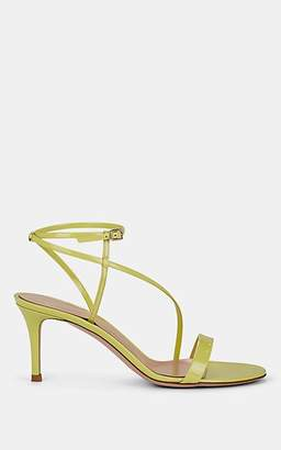 Gianvito Rossi Women's Carlyle Patent Leather Ankle-Strap Sandals - Yellow