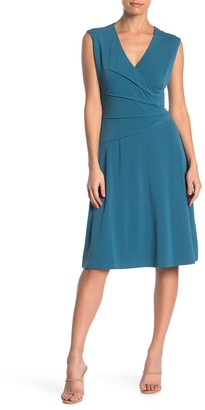 London Times Tucked Fit & Flare Dress (Petite)