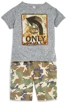 Amy Coe Infant Boys' Only Skulls Tee & Woven Camo Shorts Set - Sizes 12-24 Months