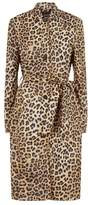 SET Leopard Trench Coat