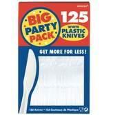 KitchenCenter Amscan International Economy Knives, Pack of 125, White