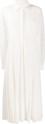 Jil Sander Broderie Anglais Shirt Dress