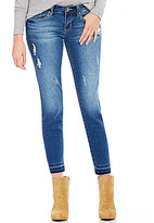 YMI Jeanswear Love Skinny Distressed Stretch Release Hem Ankle Jeans