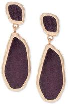 Vince Camuto Rose Gold-Tone Purple Stone Drop Earrings