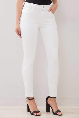 A Gold E Agolde AGOLDE Sophie Skinny Ankle Jean in Phantom White 25