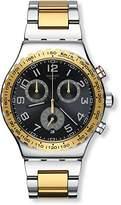 Swatch Men's YVS427G Golden Youth Analog Display Quartz Two Tone Watch