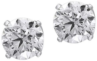 Effy 0.98 TCW Diamond and 14K White Gold Round Stud Earrings