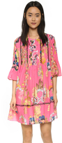 Cynthia Rowley Pintuck Ruffle Dress