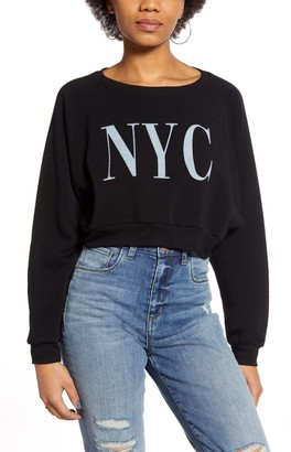 PST by Project Social T NYC Crop Sweatshirt